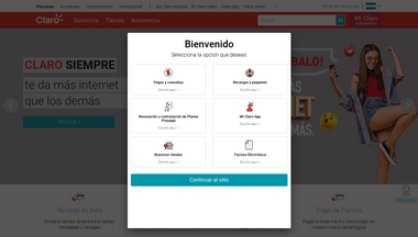 claro.com.ni Screenshot