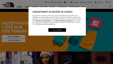 thenorthface.fr Screenshot