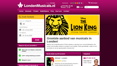 londenmusicals.nl Screenshot