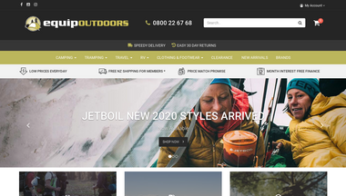 equipoutdoors.co.nz Screenshot