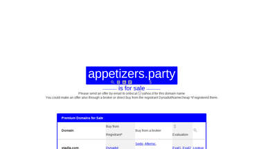 appetizers.party Screenshot