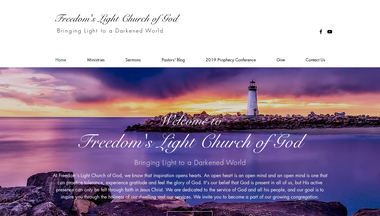 freedomslightchurchofgod.org Screenshot