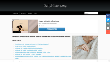 dailyhistory.org Screenshot