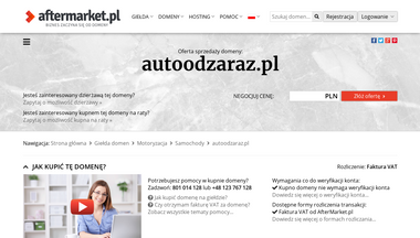autoodzaraz.pl Screenshot
