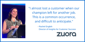 """I Almost Lost a Customer When Our Champion Left"": </br>A Customer Success Story from Zuora"