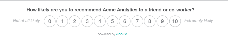 Wootric NPS Survey Acme Analytics