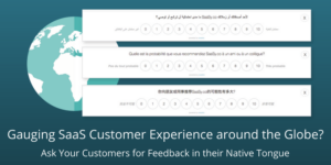 Gauging SaaS Customer Experience around the Globe? Ask Your Customers for Feedback in their Native Tongue