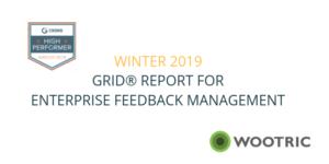 G2 Crowd Grid for Enterprise Feedback Management (Winter 2019)