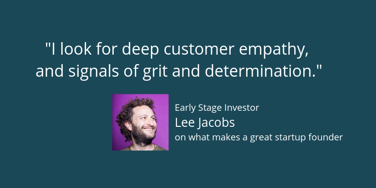 Lee Jacobs on startup success