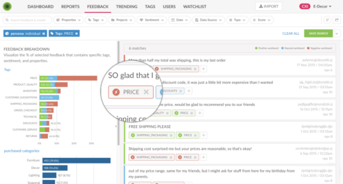 Voice of Customer Text Analytics with Sentiment Dashboard