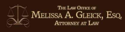 Website for The Law Office of Melissa A. Gleick, Esq., PLLC