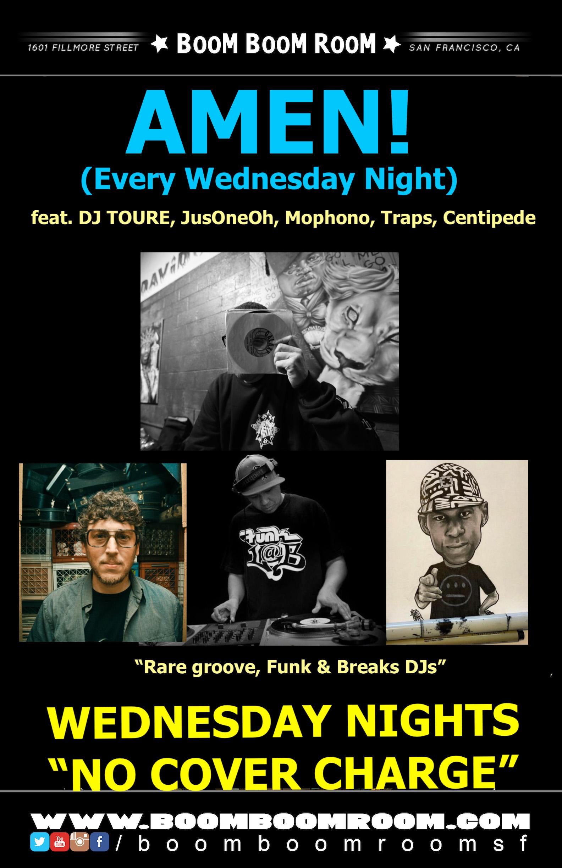 AMEN! (Wednesdays at BBR - Rare groove, Funk & Breaks DJs