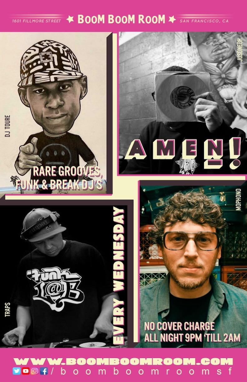AMEN! (Wednesdays at BBR – Rare groove, Funk & Breaks DJs