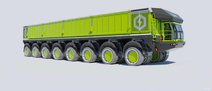 Empresa da Eslovênia tem projetos para caminhões com capacidades de até 774 toneladas.