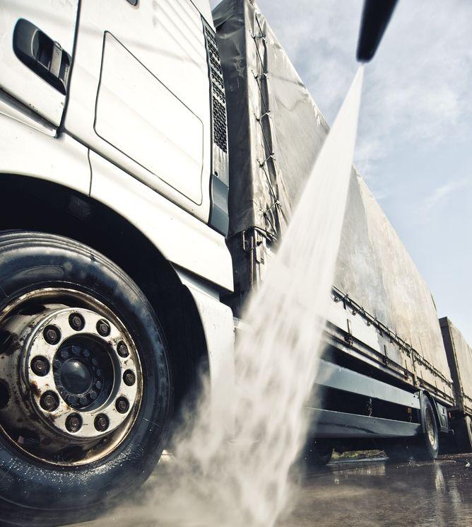 Prepare o ambiente para higienizar o caminhão