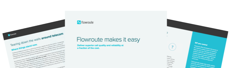 Flowroute is tearing down the walls around telecom, allowing users to benefit from unprecedented access to the telephone network.