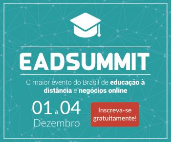 Banner para se cadastrar no EADSUMMIT. O maior evento de educação a distância do Brasil.