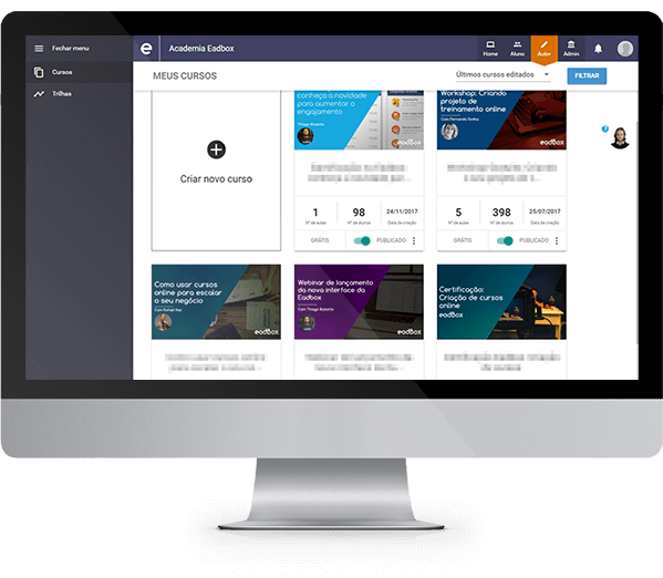 ferramenta para criar cursos online