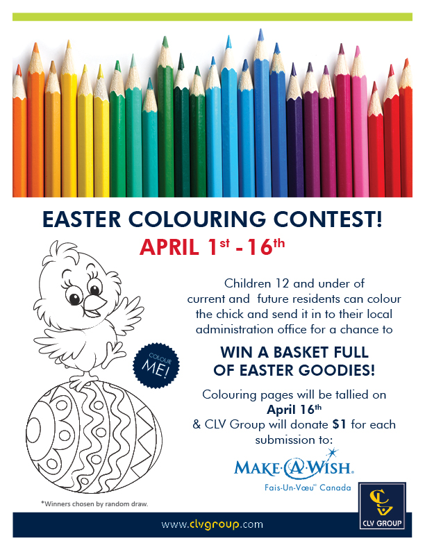 Easter Colouring Contest Poster