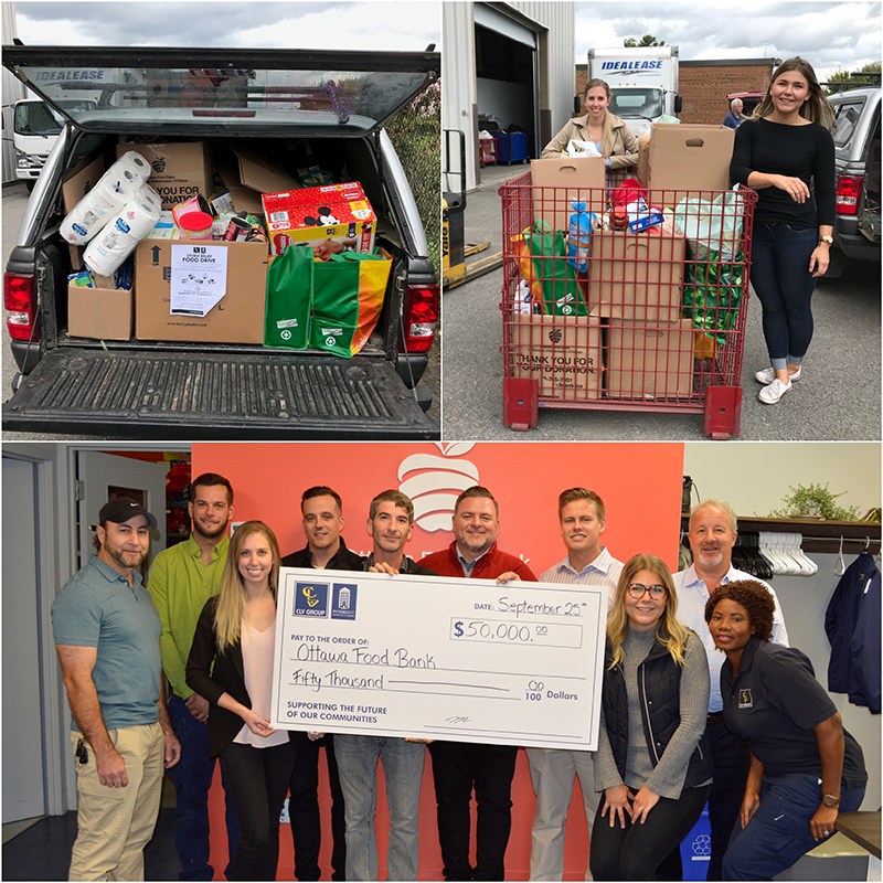 Food Drive Collage CLV Group InterRent REIT Ottawa Food Bank 2