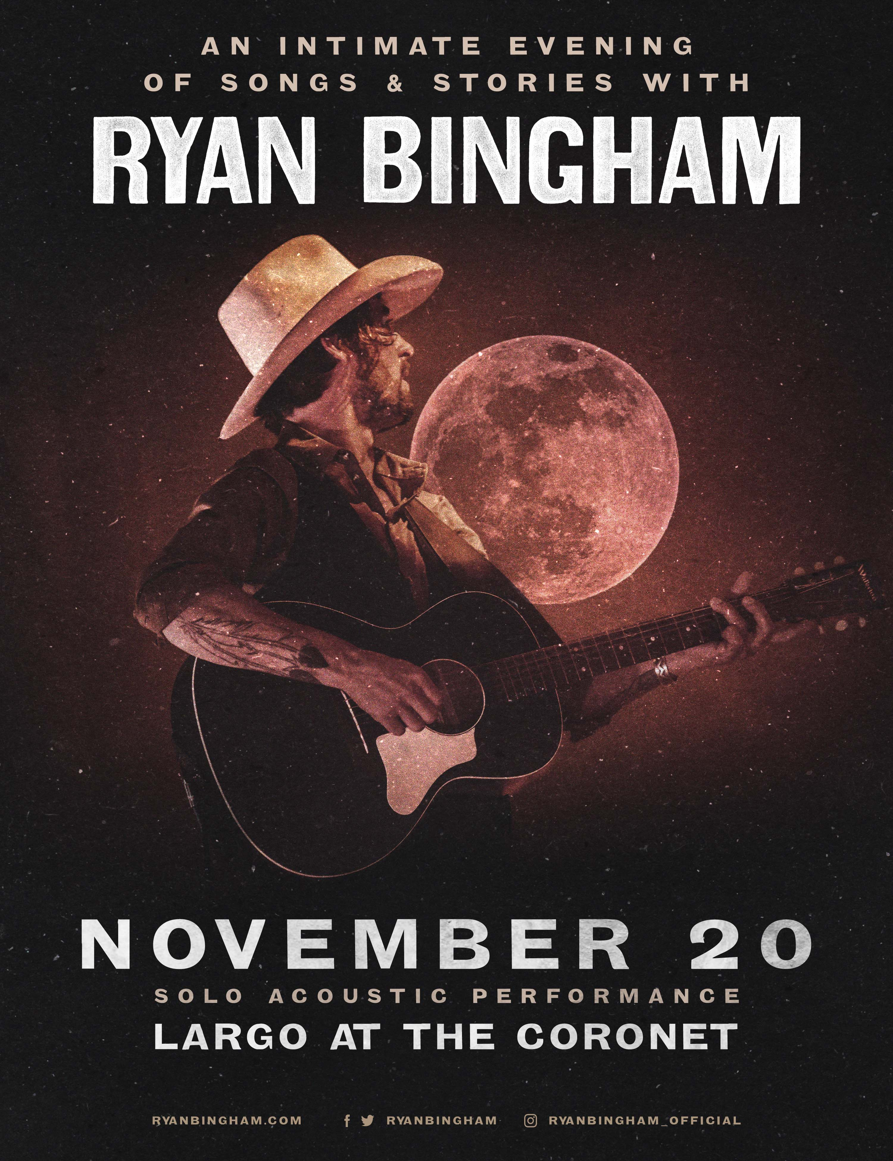 An Intimate Evening of Songs & Stories with Ryan Bingham