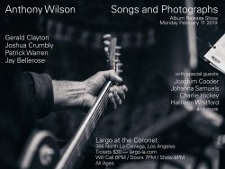 """Cancelled - Anthony Wilson — """"Songs and Photographs"""""""