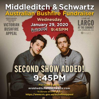 Middleditch & Schwartz - AU Bushfire Fundraiser LATE SHOW
