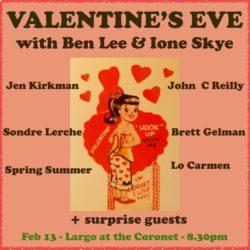"""Valentine's Eve"" with Ben Lee & Ione Skye"
