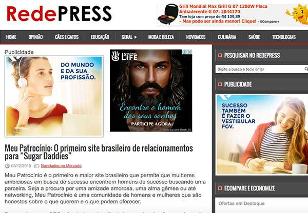 O maior site brasileiro para Sugar Daddies – Meu Patrocínio
