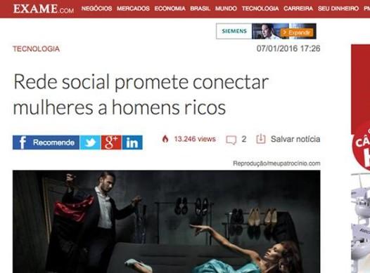 Rede Social promete unir mulheres a homens ricos – Meu Patrocínio