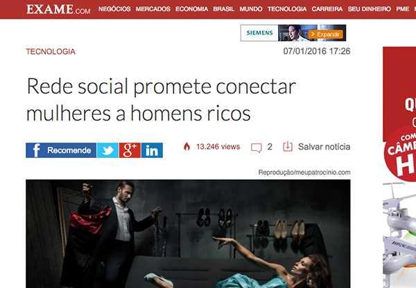 Rede Social promete unir mulheres a homens ricos – MeuPatrocínio