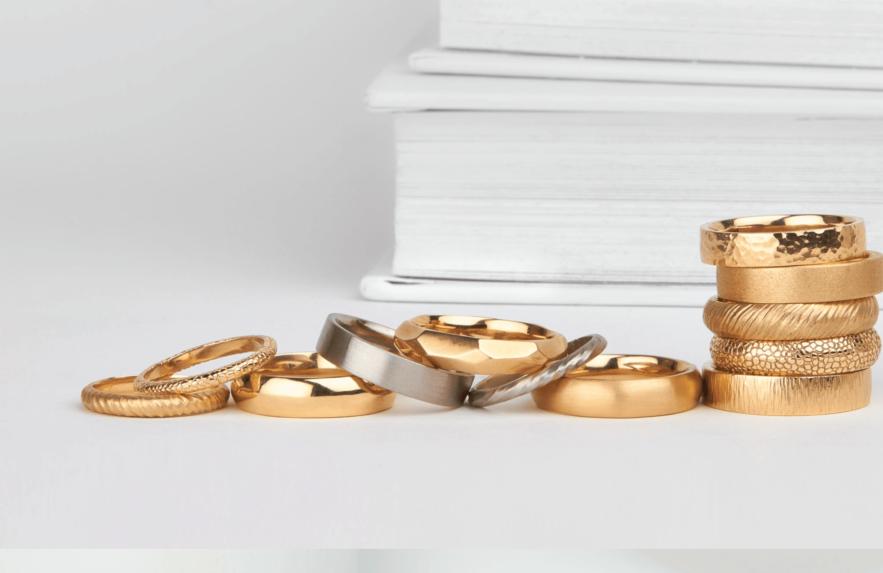 10 anéis de casamento inspiradores
