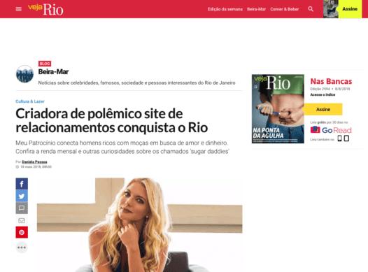 Veja: Criadora de polêmico site de relacionamentos conquista o Rio