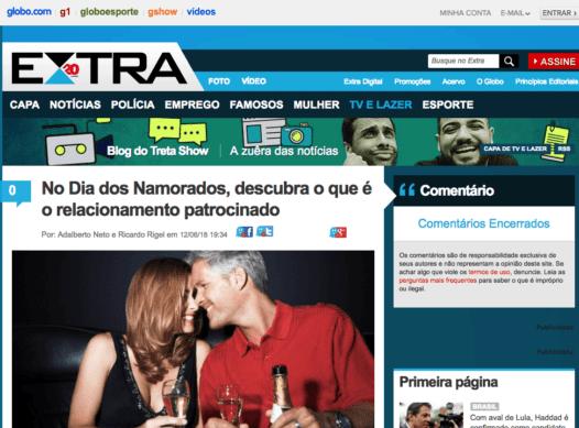Globo: No Dia dos Namorados, descubra o que é o relacionamento patrocinado