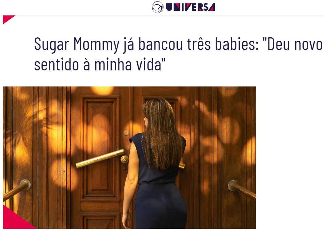 """Sugar Mommy já bancou três babies: """"Deu novo sentido à minha vida"""""""