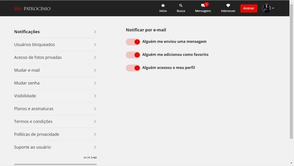 Como acesso e para que servem às configurações do perfil?