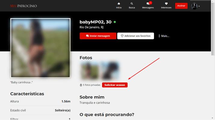 Como solicitar acesso as fotos privadas de um usuário?