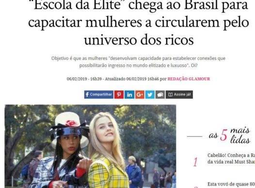 """""""Escola da Elite"""" chega ao Brasil para capacitar mulheres a circularem pelo universo dos ricos"""