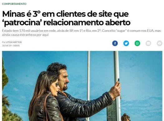 Minas é 3º em clientes de site que 'patrocina' relacionamento aberto