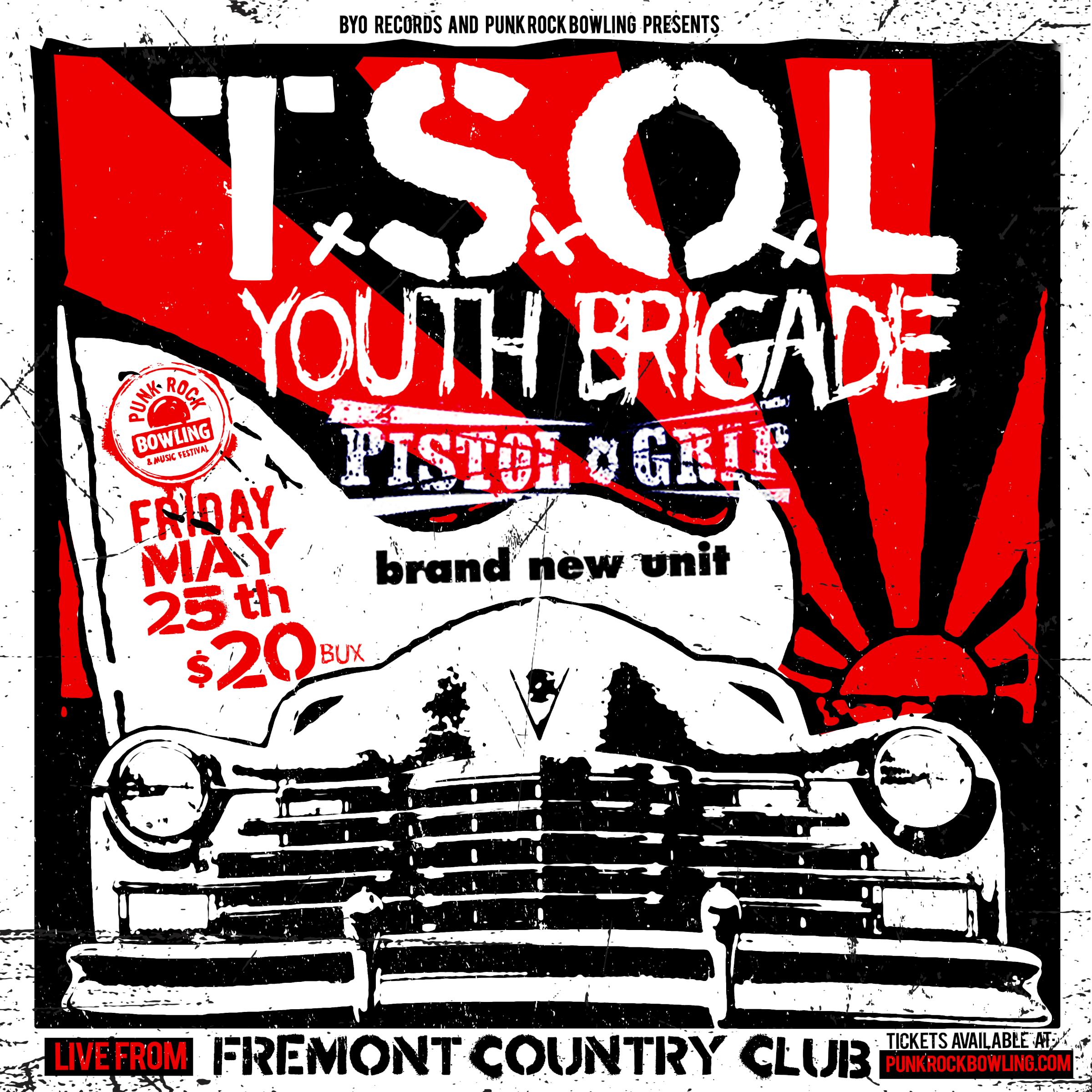 TSOL Youth Brigade Pistol Grip Brand New Unit Punk Rock Bowling 2018
