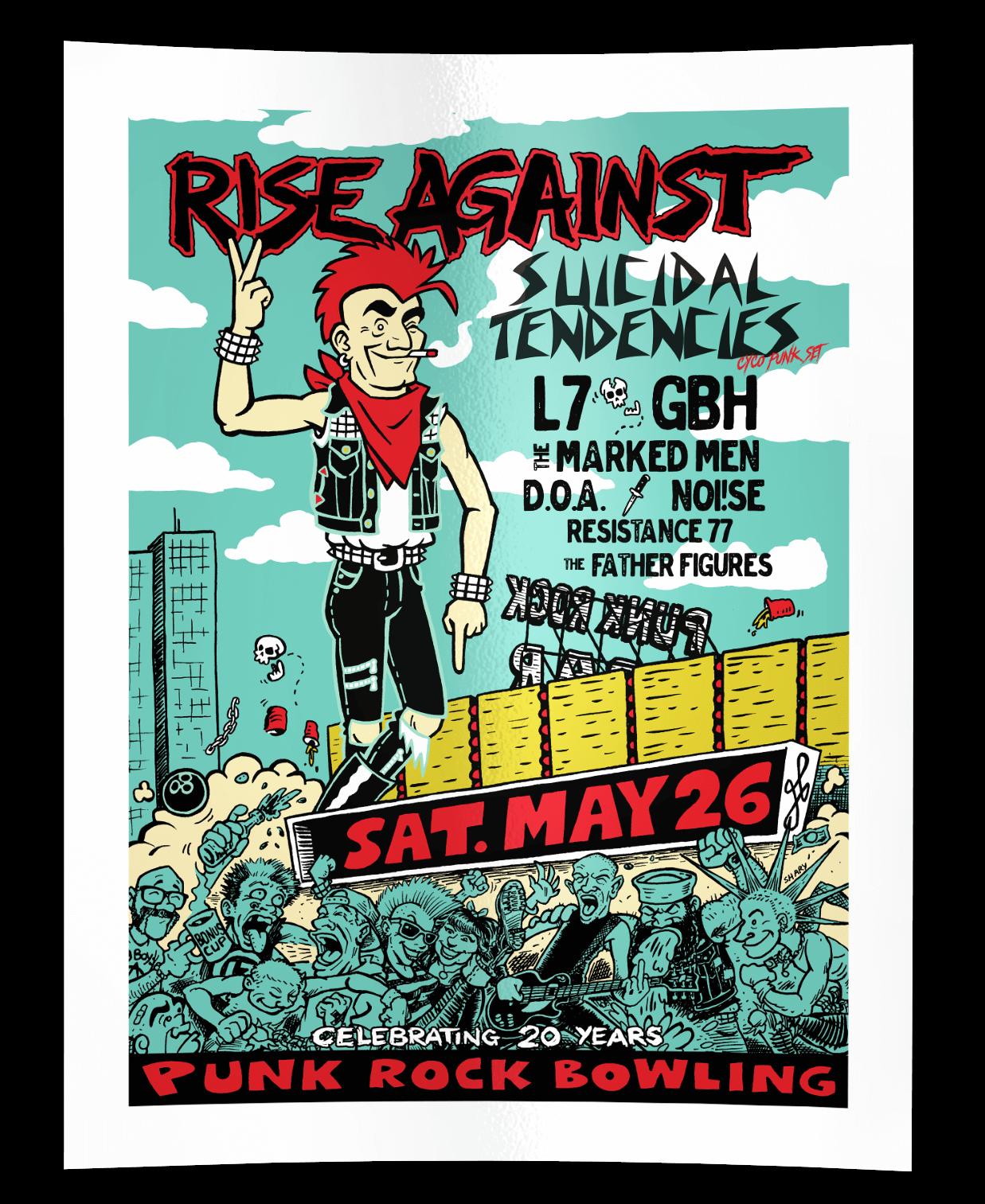 Rise Against, Suicidal Tendencies, L7, GBH