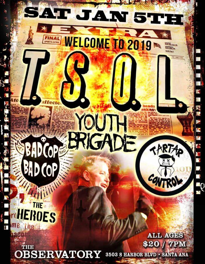 TSOL, Youth Brigade, Bad Cop Bad Cop Tartar Control