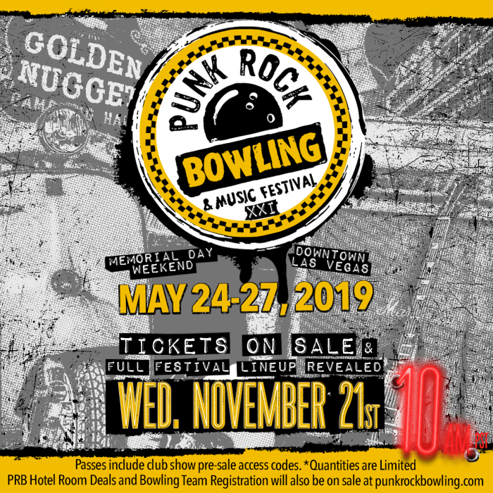Tickets & Lineup For Punk Rock Bowling 2019 Available 11.21.18