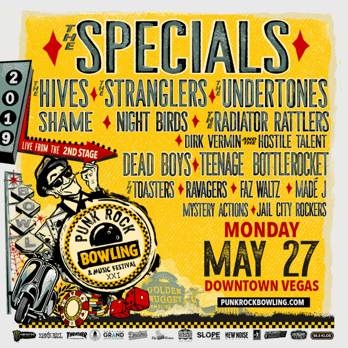 Punk Rock Bowling 2019 Monday Lineup The Specials The Hives The Stranglers The Undertones