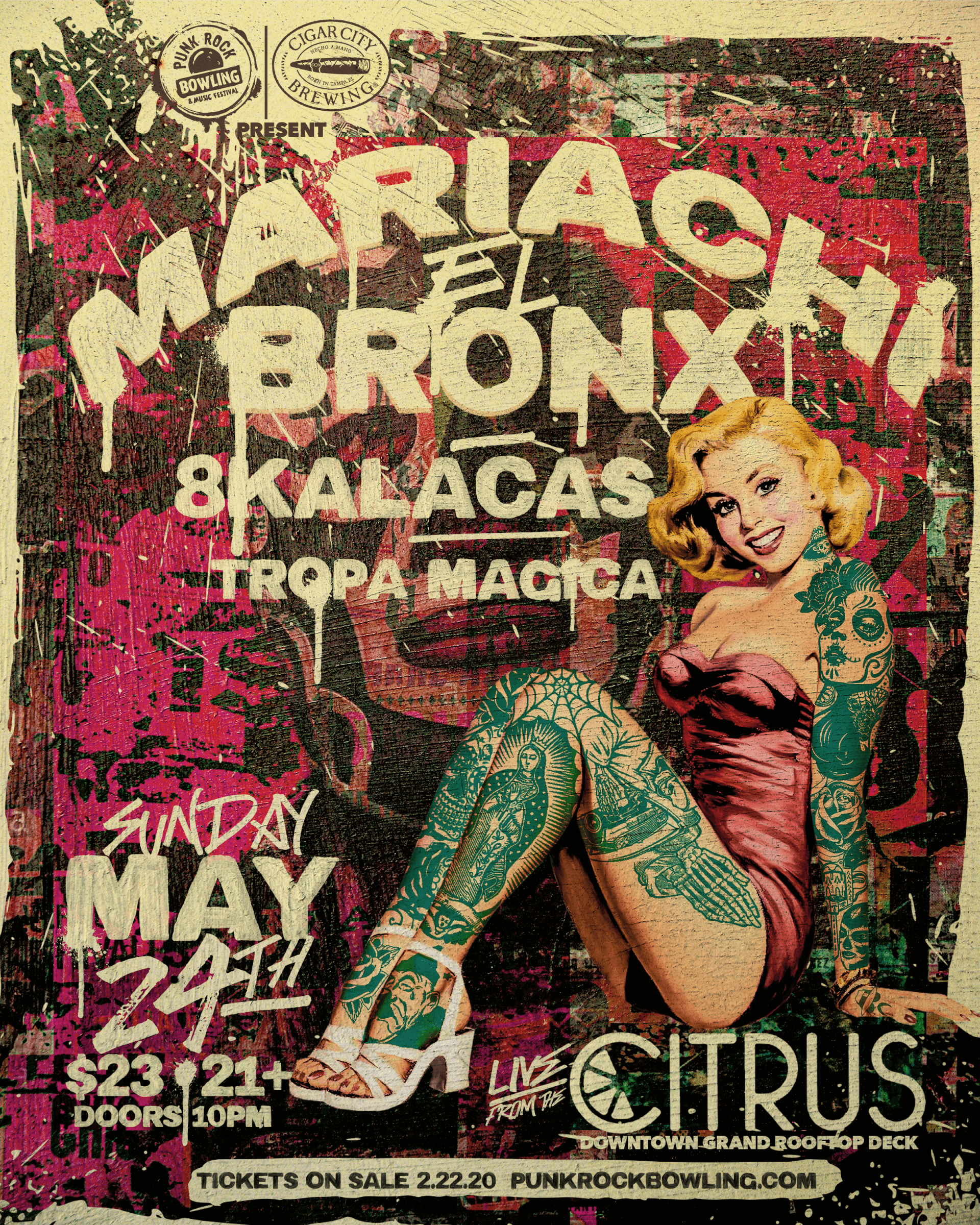 Mariachi-El-Bronx-Punk Rock Bowling 2020 Las Vegas