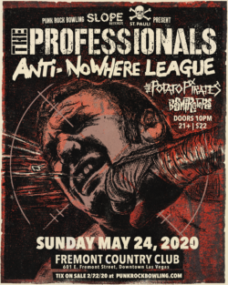 The Professionals, Anti-NoWhere League, Punk Rock Bowling 2020