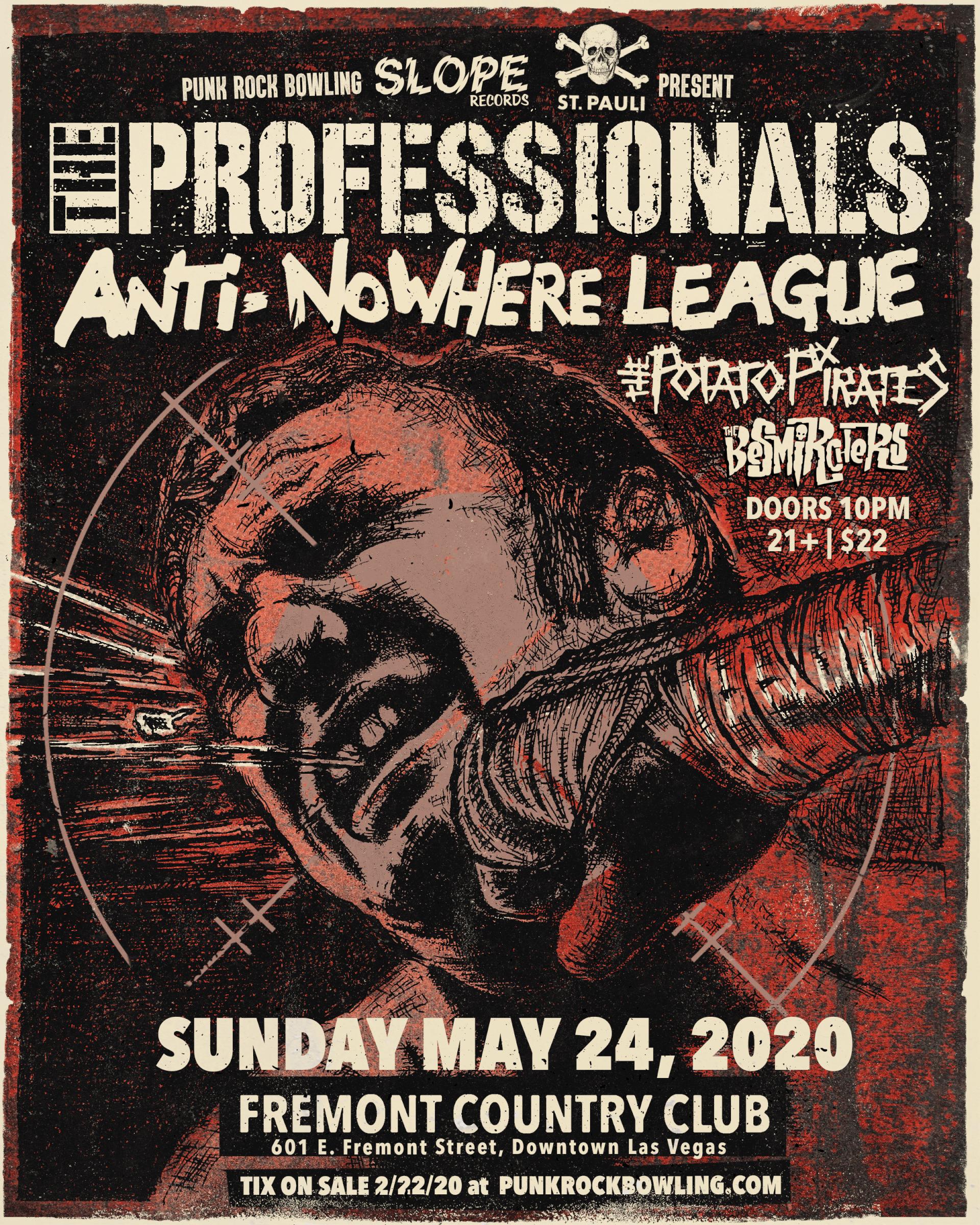 The Professionals, Anti-NoWhere League, Punk Rock Bowling 2020