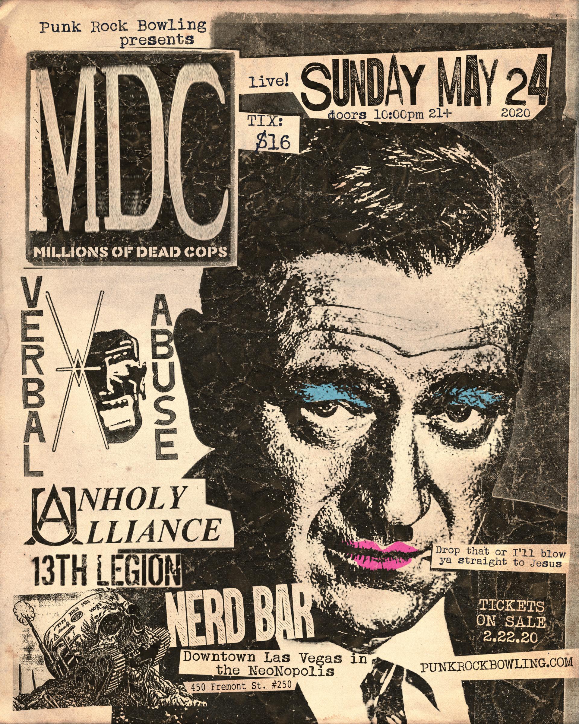 MDC Verbal Abuse Punk Rock Bowling 2020 Las Vegas