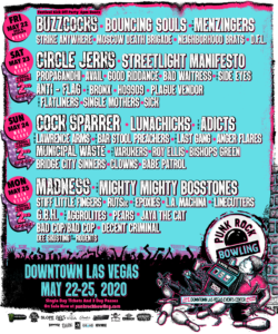 Punk Rock Bowling 2020 Daily Lineup