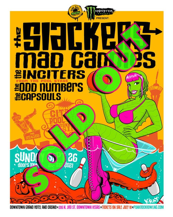 The Slackers Mad Caddies The Inciters The Odd Numbers Punk Rock Bowling 2021 After Party Downtown Las Vegas Sold Out